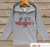 First Valentines Day Outfit - Girl or Boy Hoodie - My First Valentine Pullover - Baby's 1st Valentine's Day Outfit - Newborn, Infant Hoodie - Get The Party Started