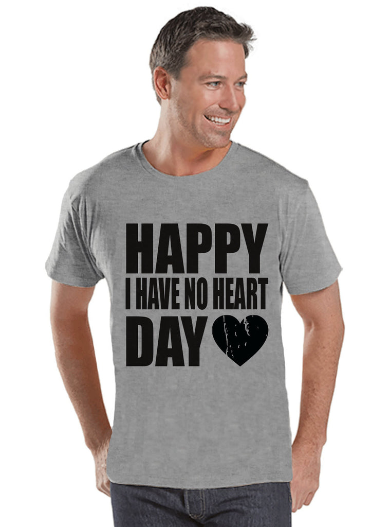 Men's Valentine Shirt - Funny Valentine Shirt - I Have No Heart - Happy Valentines Day - Funny Anti Valentines Gift for Him - Grey Shirt - Get The Party Started