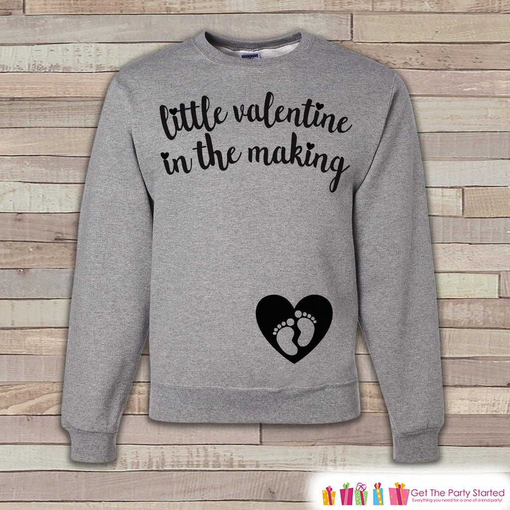 Valentine's Pregnancy Reveal - Little Valentine in the Making - Pregnancy Announcement - Valentine's Day Pregnancy Reveal - Women's Shirt - Get The Party Started