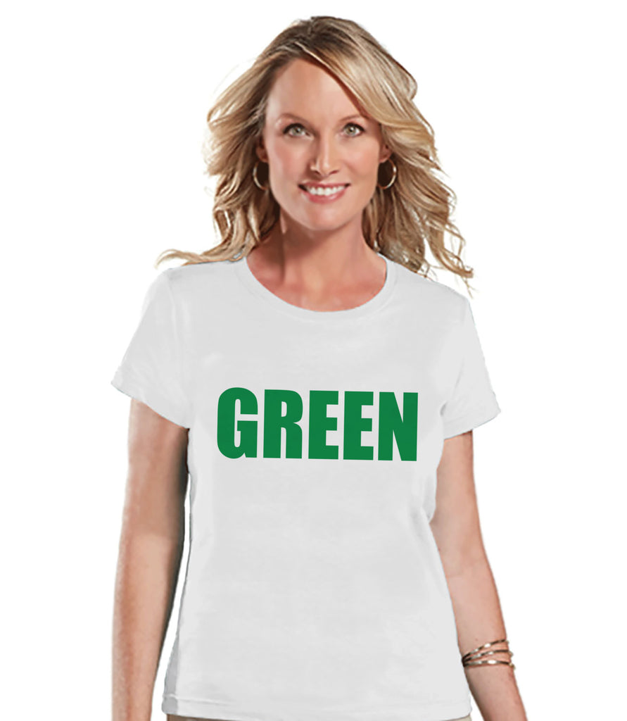 St. Patricks Day Shirt - Women's St Patrick's Day Shirt - GREEN - Humorous Women's White T-shirt - Gift for Her - Don't Pinch Party Shirt - Get The Party Started