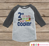 Back to School Shirt - 2nd Grade Shirt - Boys Back To School Outfit Grey Raglan Tee - First Day of School Tshirt - Back to School Shirt