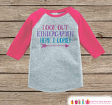 Back to School Shirt - Look Out Kindergarten Shirt - Girls Back To School Outfit Pink Raglan - Kindergarten Here I Come - Back to School