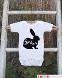 Girls Easter Outfit - Sister Bunny Onepiece or Tshirt - Kids Easter Bunny Outfit - Sibling Easter Outfits - Girls Baby Toddler Youth Shirt - Get The Party Started