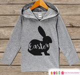 Kids Easter Outfit - Easter Bunny Hoodie - Easter Spring Pullover - Baby Boy or Girl Easter Outfit - Egg Hunt - Kids Grey Toddler Hoodie - Get The Party Started