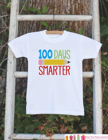 100 Days of School Shirt - Boys 100 Days Smarter Shirt - Kids School Outfit - Boys 100th Day of School T-shirt - Kids School Shirt