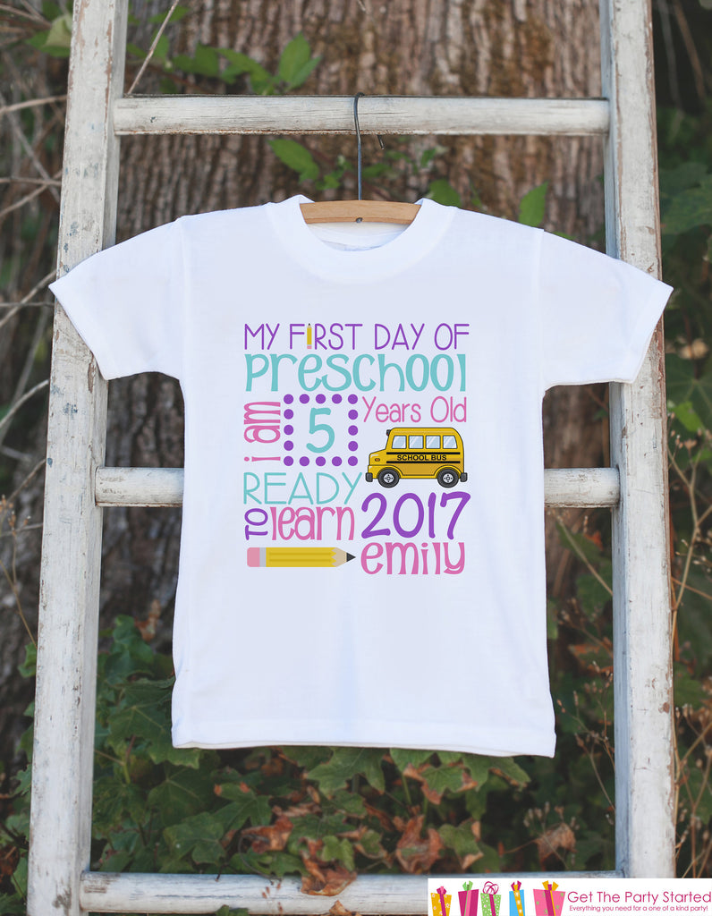 Girls First Day of School Outfit - Back To School Stat Shirt - 1st Day of Preschool Shirt - Kids Back to School Shirt - My 1st Day of School