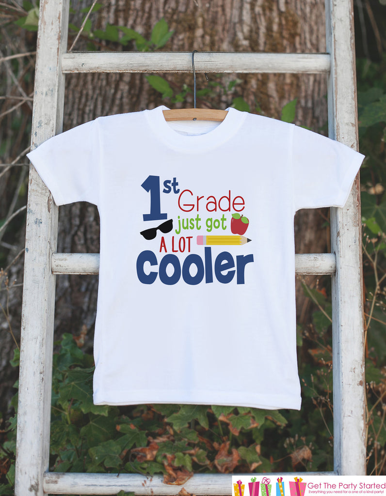 Back To School Shirt - Boys First Grade Outfit - 1st Grade Just Got Cooler - Kids Back to School Shirt - Boys My First Day of School