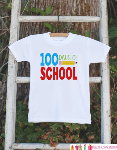 100 Days of School Shirt - Boys 100 Days of School Shirt - Kids School Outfit - Boys 100th Day of School T-shirt - Kids School Shirt
