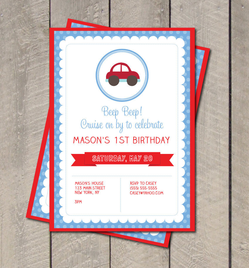 cars birthday party invitation cars invitation digital printable