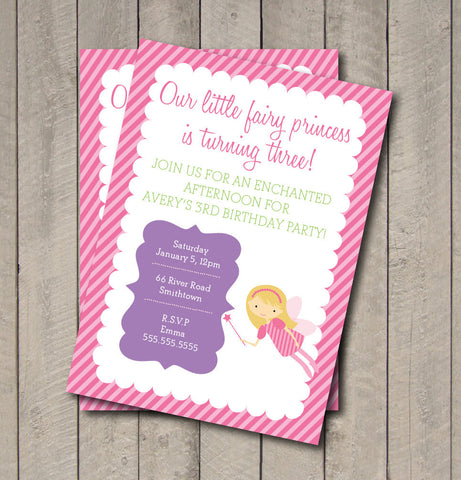 Fairy Birthday Party Invitation - Fairy Princess Invite - Digital Printable Invitation - Fairy Invite - Fairy Invitation - Magical - Get The Party Started