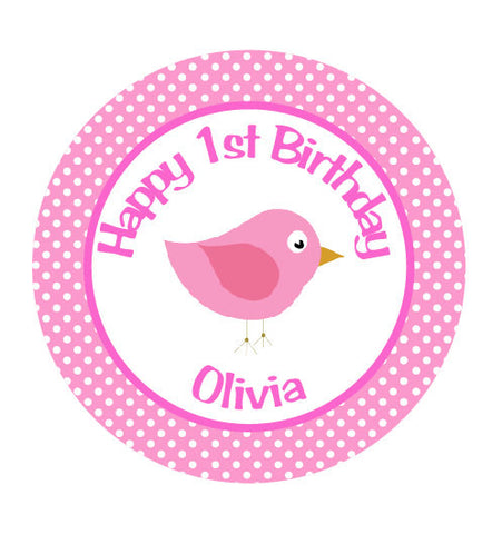 Bird Iron On Transfer for Birthday Shirt - Birdie Theme Birthday Party Iron on Transfer - Birthday Outfit - Hot Pink & Light Pink - Get The Party Started