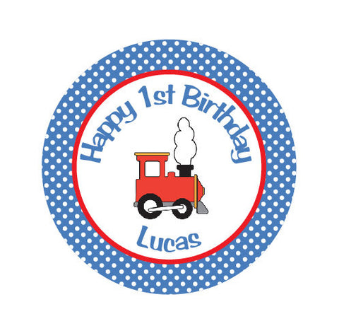 Train Iron On Transfer for Birthday Shirt - Train Theme Birthday Party Iron on Transfer - Train Birthday Outfit - Red & Blue - Get The Party Started