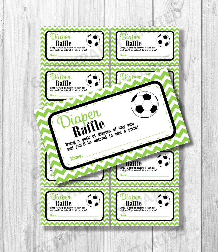photograph about Tickets Printable called DIAPER RAFFLE TICKETS - Printable Youngster Shower Raffle Tickets - Football Boy or girl Shower - Quick Obtain - Football Shower Video games - Black Eco-friendly