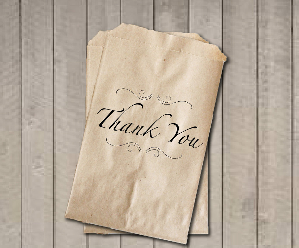 THANK YOU Wedding Favor Bags, Thank You Favor Bags, Classic Wedding Candy Bags, Wedding Candy Buffet Bags, Engagement Party, Bridal Shower - Get The Party Started