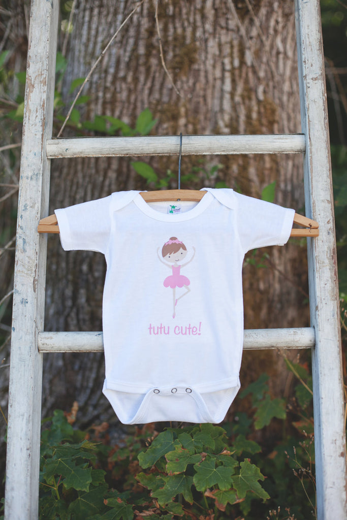 TuTu Cute Ballerina Bodysuit - Ballerina Onepiece Bodysuit - Ballerina Outfit - Girls Romper - Ballerina Baby Shower Gift - Get The Party Started