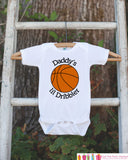 Daddy's Lil Dribbler Bodysuit - Basketball Onepiece Bodysuit - Basketball Outfit - Boys Romper - Novelty Basketball Baby Shower Gift - Get The Party Started