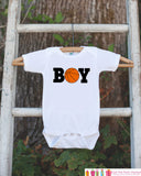 Basketball Bodysuit - Basketball Onepiece Bodysuit - Basketball Outfit - Boys Romper - Novelty Basketball It's a Boy Gender Reveal Outfit - Get The Party Started
