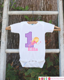Fairy Bodysuit for First Birthday - Personalized Bodysuit For Girl's 1st Birthday Party - Fairy Onepiece Birthday Outfit With Name & Age - Get The Party Started