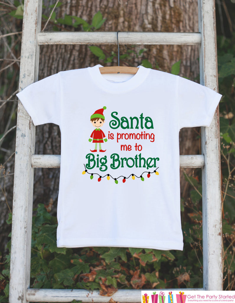 Big Brother Pregnancy Announcement Shirt - Big Brother Holiday Outfit - Big Brother Shirt - Christmas Announcement Shirt - Holiday Shirt - Get The Party Started