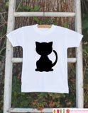 Black Cat Shirt - Cat Halloween Onepiece - Black Cat Silhouette - Baby Boy or Baby Girl Halloween Outfit - Holiday Shirt - Get The Party Started