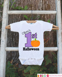 First Halloween Shirt - Halloween Onepiece - Baby's First Halloween With Pumpkin and Child's Name - Baby Girl's My First Halloween Outfit - Get The Party Started