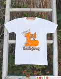 First Thanksgiving Shirt - Thanksgiving Onepiece - Baby's First Thanksgiving With Pumpkin and Child's Name - Girl First Thanksgiving Outfit - Get The Party Started