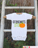 Grandma's Little Pumpkin Halloween Shirt - Pumpkin Onepiece - Fall Outfit for Baby Boy or Baby Girl - Halloween Outfit - Kids Novelty Shirt - Get The Party Started