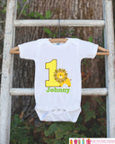 First Birthday King of the Jungle Onepiece - Personalized Bodysuit For Boy's 1st Birthday Party - Lion Bodysuit Boys First Birthday Outfit - Get The Party Started