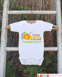 Thanksgiving Shirt - Cutest Pumpkin in the Patch Thanksgiving Onepiece - Thanksgiving Outfit for Baby Boy or Baby Girl - First Thanksgiving - Get The Party Started