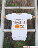 Thankful For Me Thanksgiving Shirt - Thanksgiving Onepiece - Thanksgiving Outfit for New Baby Boy or Baby Girl - First Thanksgiving Shirt - Get The Party Started