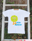 Little Monster Outfit - Novelty Boy's Baby Shower Gift - Humerous Onepiece - Monster Shirt - Monster Bodysuit - Little Monster Bodysuit - Get The Party Started