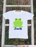 Frog Outfit - Personalized Bodysuit For Boy's 1st Birthday Party - Preppy Frog Bodysuit - Frog Baby Shower Gift With Name - Frog Shirt - Get The Party Started