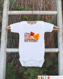 Little Miss September Onepiece Bodysuit - Take Home Outfit For Newborn Baby Girls - Fall Leaves Infant Going Home Hospital Onepiece - Get The Party Started