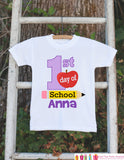 First Day of School Outfit - Personalized Back to School Shirt - Girl First Day of School Shirt with Name - My First Day of Preschool Outfit - Get The Party Started
