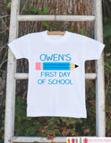 First Day of School Outfit - Personalized 1st Day of School Shirt - Boys Back to School Shirt - My First Day of School Outfit for Boys - Get The Party Started
