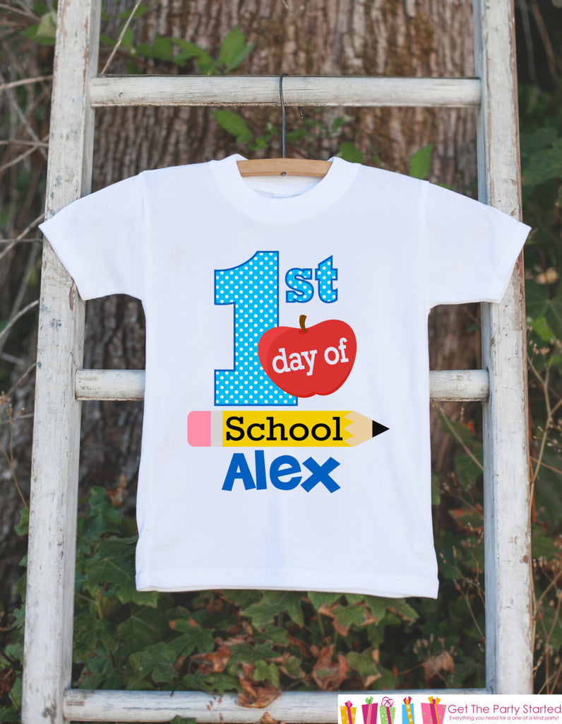 First Day of School Outfit - Personalized Back to School Shirt - Boys First Day of School Shirt with Name - My First Day of Preschool Outfit - Get The Party Started
