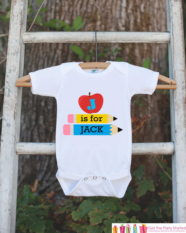 Baby School Outfit - Personalized School Shirt for Girls or Boys - Teacher Baby Shower Gift - Baby Girl Clothes - Baby Boy Bodysuit - Get The Party Started
