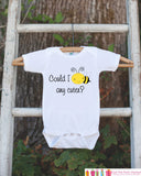 Bee Onepiece Bodysuit - Novelty Bodysuit Makes a Great Baby Shower Gift for a New Baby - Could I Bee Any Cuter Outfit - Baby Boy or Girl - Get The Party Started