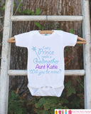 Will You Be My Godmother Outfit - Personalized Baby Boy Bodysuit - Every Prince Needs a Godmother Onepiece - Godchild & Godparent Keepsake - Get The Party Started