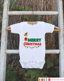 Merry Christmas Outfit - Elf Boy Christmas Onepiece - Baby's First Christmas Elf Bodysuit - Santa Outfit - Baby Boy's Christmas Outfit - Get The Party Started