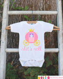 Novelty Princess Bodysuit For Girls - Humorous Let's Roll Princess Carriage Onepiece - Take Home Outfit - Baby Shower Gift for Infant Girl - Get The Party Started