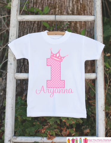 781c28015 ... First Birthday Princess Outfit - Personalized Princess Bodysuit For Girls  1st Birthday Party - Pink Princess ...