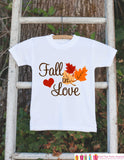 Fall Shirt for Boys or Girls - Autumn Leaves Onepiece - Fall in Love Outfit for New Baby Boy or Baby Girl - First Fall Baby Shower Gift - Get The Party Started