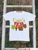 First Fall Y'all - Autumn Leaves Onepiece - Baby's First Fall Outfit for New Baby Boy or Baby Girl - Infant Newborn Keepsake - Southern - Get The Party Started