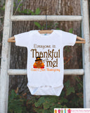 Thankful For Me Thanksgiving Shirt - Thanksgiving Onepiece - Thanksgiving Outfit for Baby Boy or Baby Girl - First Thanksgiving Turkey Shirt - Get The Party Started