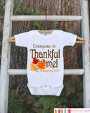 Thankful For Me Thanksgiving Shirt - 2015 Thanksgiving Onepiece - 1st Thanksgiving Outfit for Baby Boy or Baby Girl - First Thanksgiving - Get The Party Started