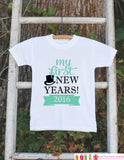 My First New Years Outfit - Happy New Years Eve Onepiece - Infant Keepsake Outfit - 1st New Year Bodysuit for Baby Girls or Baby Boys - Get The Party Started