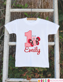First Birthday Butterfly Outfit - Personalized Lovebug Bodysuit For Girl's 1st Birthday Party - Love Bug Bodysuit Birthday Shirt with Name - Get The Party Started