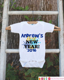 First New Year Outfit - Personalized New Years Eve Onepiece With Fireworks - Baby's First Holiday - 1st New Year Bodysuit for Baby Boys - Get The Party Started