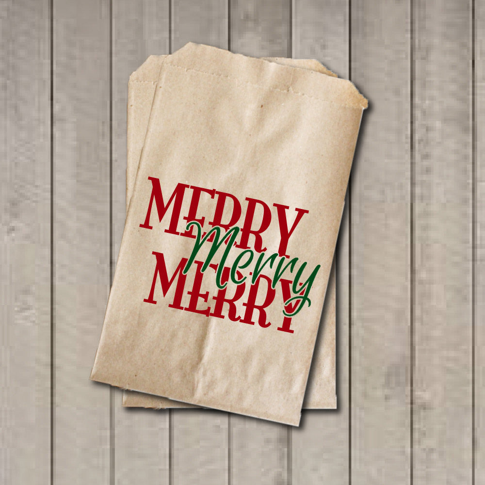 Christmas Favor Bags, Merry Christmas Candy Bags, Christmas Party Favor Bags, Holiday Party Bag, Candy Buffet, Sweets, Treats, Dessert - Get The Party Started